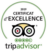 Certificat Excellence TripAdvisor Hotel Grialdi Cagnes-sur-Mer
